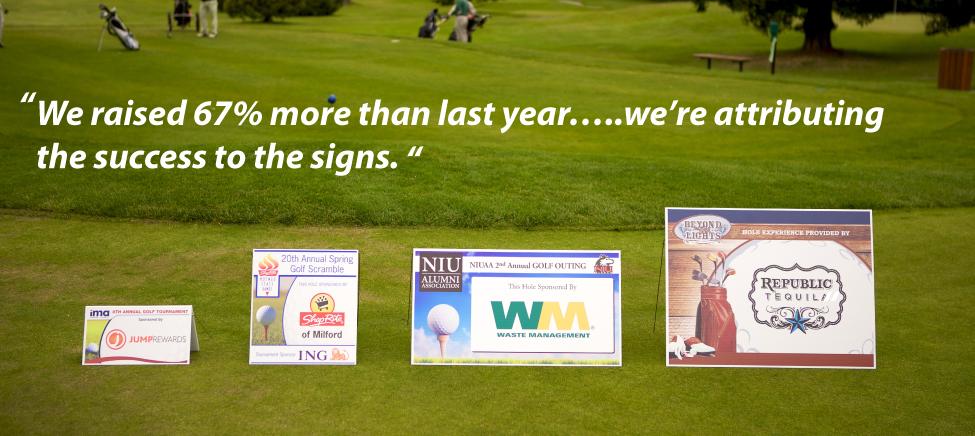 Fairway Sponsors Golf Tournament Signs Sponsorship